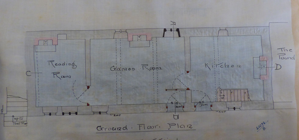 Architect's Floor Plan Drawings for 1908 Restoration (2)